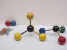 ball-and-stick molecular models