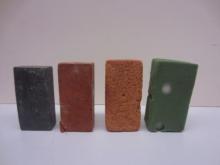 bricks of four different materials