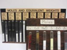 mole-quantity samples of various compounds