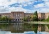 Chemistry Building, Bagley Hall, Johnson Hall and Drumheller Fountain